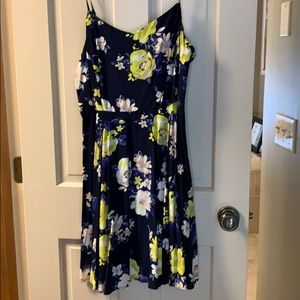 Navy blue and yellow dress